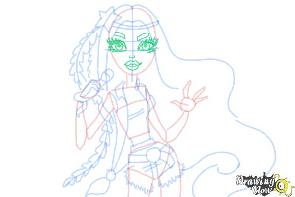 How to Draw Madison Fear from Monster High - Step 7