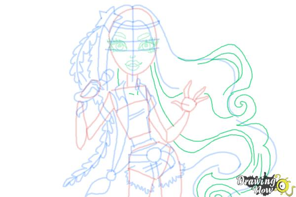 How to Draw Madison Fear from Monster High - Step 8