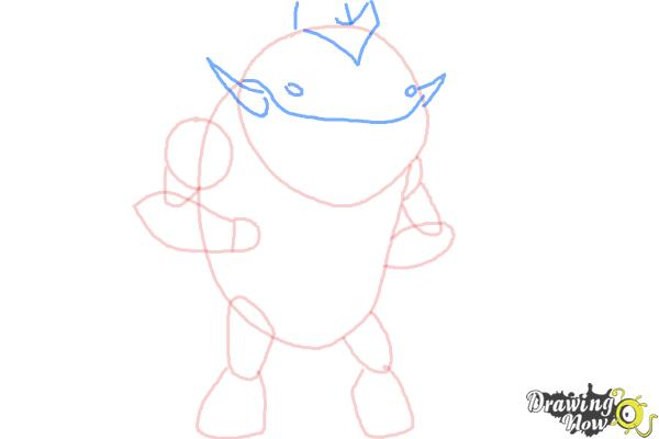 How to Draw Eatle from Ben 10 Omniverse - Step 4