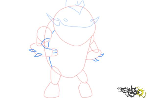 How to Draw Eatle from Ben 10 Omniverse - Step 5
