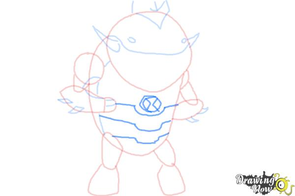 How to Draw Eatle from Ben 10 Omniverse - Step 6