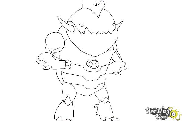 How to Draw Eatle from Ben 10 Omniverse - Step 8