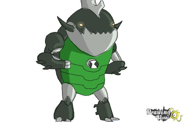 How to Draw Eatle from Ben 10 Omniverse - Step 9