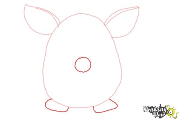 How to Draw a Furby - Step 3