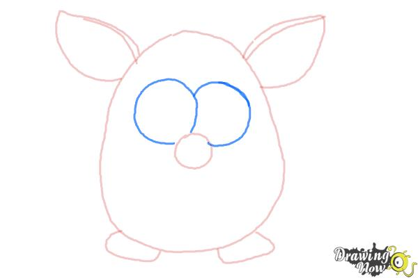 How to Draw a Furby - Step 4