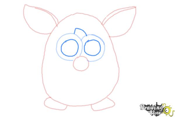 How to Draw a Furby - Step 5