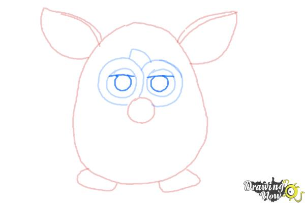 How to Draw a Furby - Step 6
