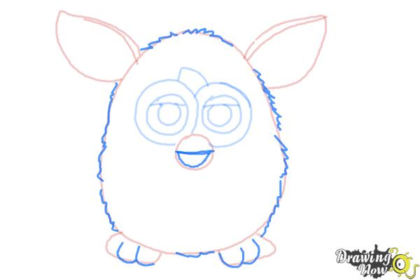 How to Draw a Furby - Step 7
