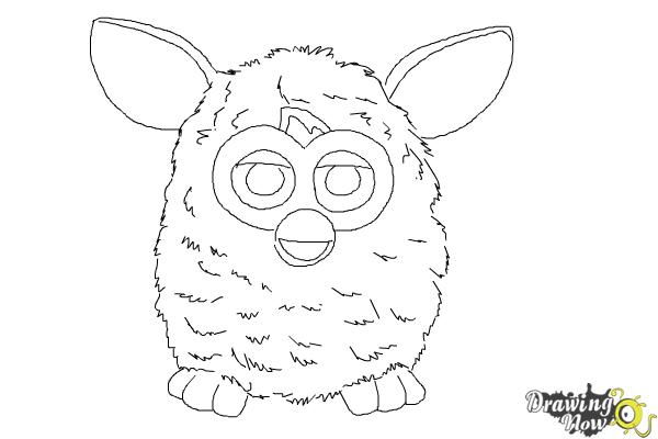 How to Draw a Furby - Step 8