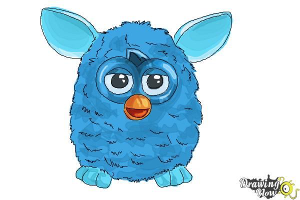 How to Draw a Furby - Step 9