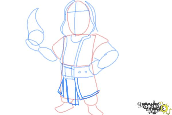 How to Draw Clash of Clans Wizard - Step 6