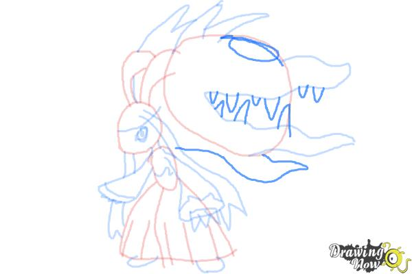 How to Draw Mega Mawile - Step 10
