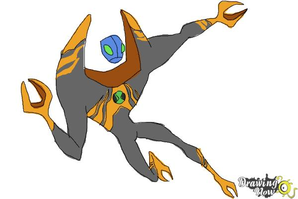 How to Draw Lodestar from Ben 10 Omniverse - Step 10