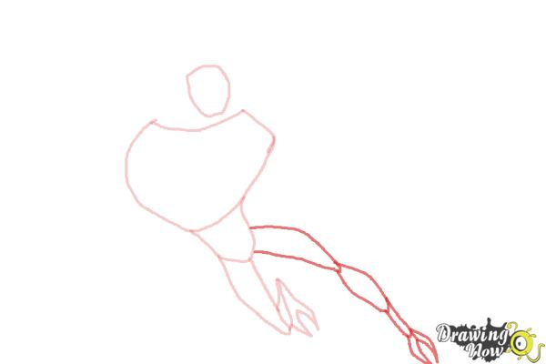 How to Draw Lodestar from Ben 10 Omniverse - Step 4