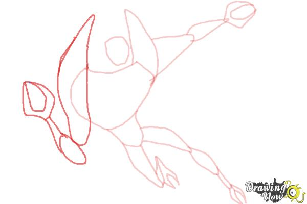 How to Draw Lodestar from Ben 10 Omniverse - Step 6