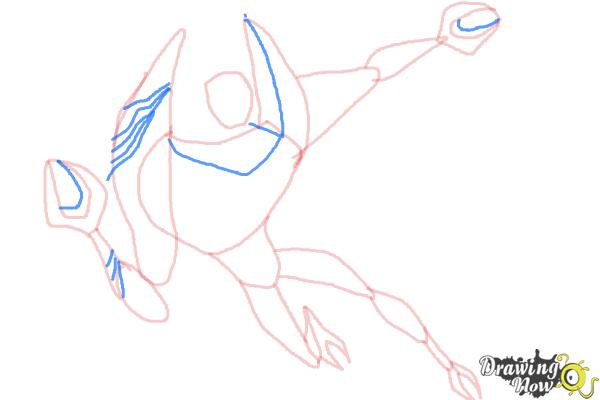 How to Draw Lodestar from Ben 10 Omniverse - Step 7