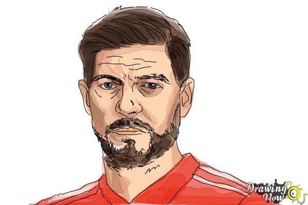How to Draw Steven Gerrard - Step 10