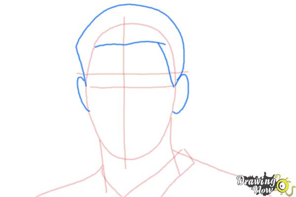 How to Draw Steven Gerrard - Step 4