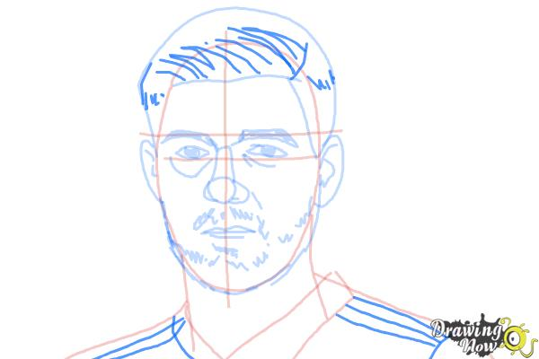 How to Draw Steven Gerrard - Step 8