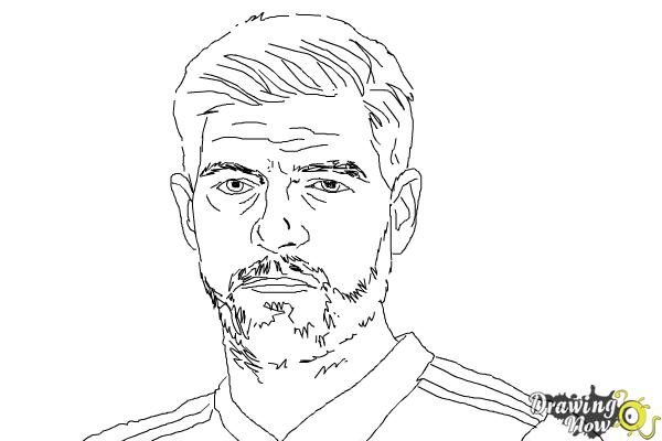 How to Draw Steven Gerrard - Step 9