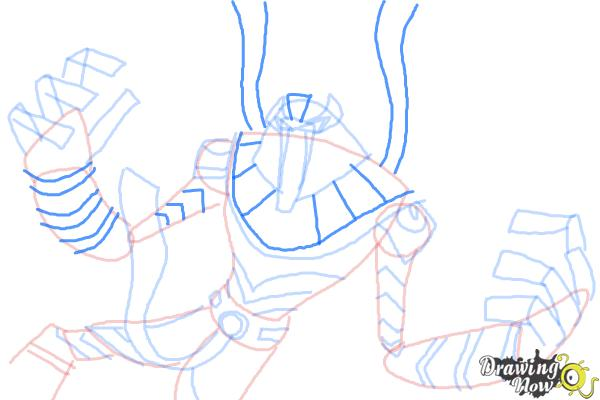 How to Draw Snare-Oh from Ben 10 Omniverse - Step 10