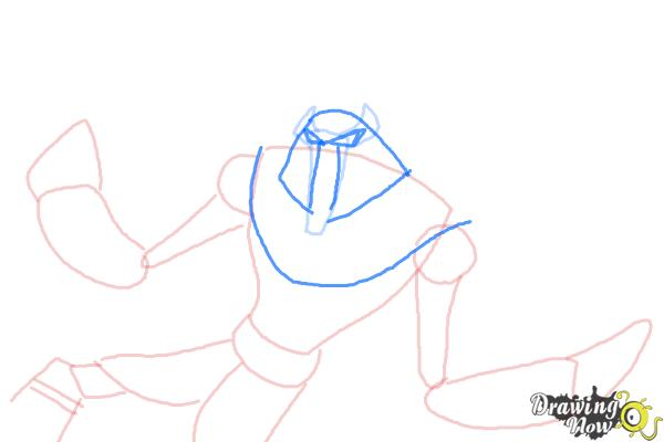 How to Draw Snare-Oh from Ben 10 Omniverse - Step 6