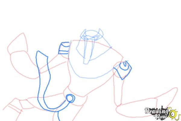 How to Draw Snare-Oh from Ben 10 Omniverse - Step 7