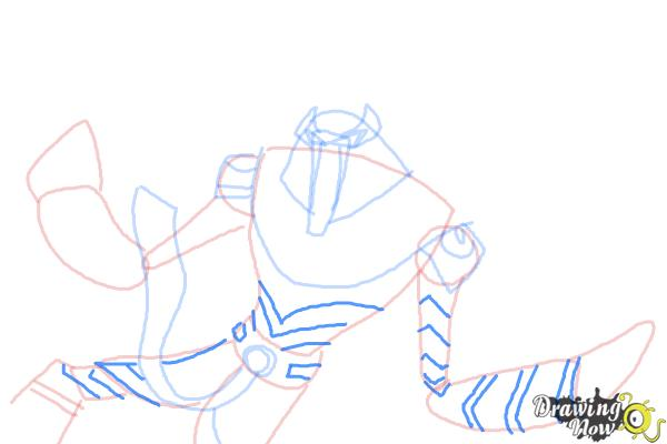 How to Draw Snare-Oh from Ben 10 Omniverse - Step 8