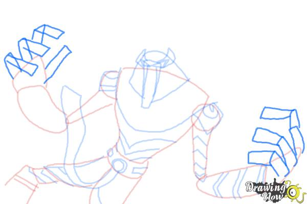 How to Draw Snare-Oh from Ben 10 Omniverse - Step 9