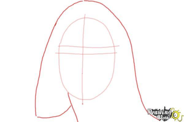 How to Draw Maddie Ziegler - Step 3