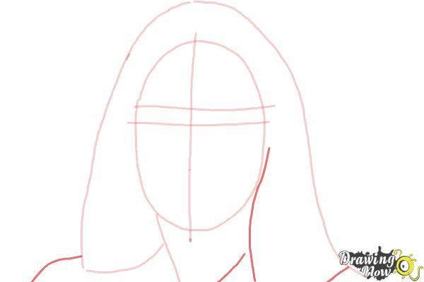 How to Draw Maddie Ziegler - Step 4