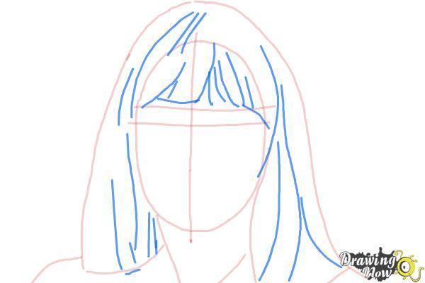 How to Draw Maddie Ziegler - Step 5