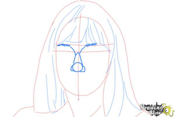 How to Draw Maddie Ziegler - Step 6