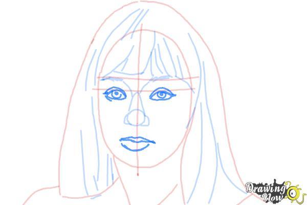 How to Draw Maddie Ziegler - Step 7