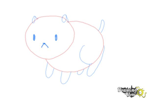 How to Draw Puppycat from Bee And Puppycat - Step 5