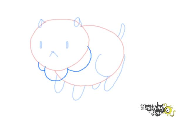 How to Draw Puppycat from Bee And Puppycat - Step 6