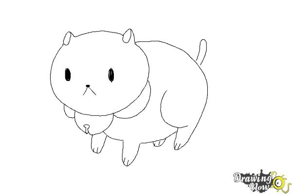 How to Draw Puppycat from Bee And Puppycat - Step 7