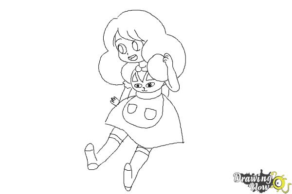 How to Draw Bee from Bee And Puppycat - Step 8