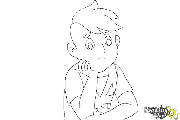 How to Draw Deckard Wizard from Bee And Puppycat - Step 9