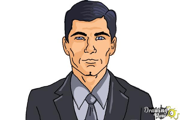 How to Draw Archer, Sterling Malory Archer from Archer - Step 10