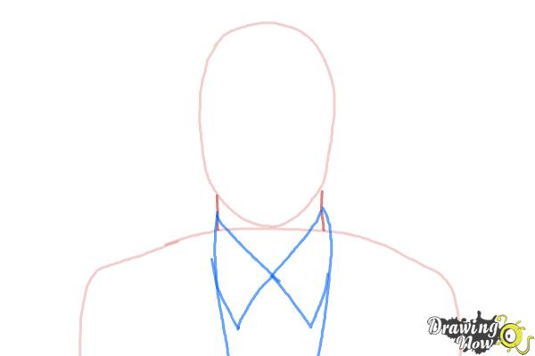 How to Draw Archer, Sterling Malory Archer from Archer - Step 2