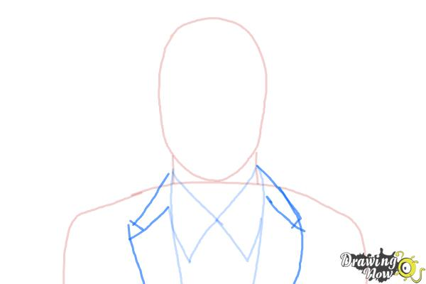 How to Draw Archer, Sterling Malory Archer from Archer - Step 3