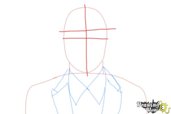 How to Draw Archer, Sterling Malory Archer from Archer - Step 4
