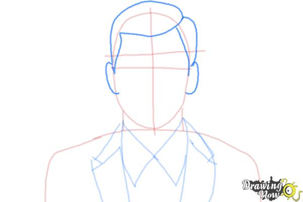 How to Draw Archer, Sterling Malory Archer from Archer - Step 5