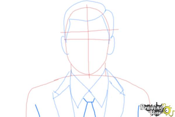 How to Draw Archer, Sterling Malory Archer from Archer - Step 6