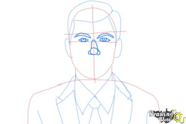 How to Draw Archer, Sterling Malory Archer from Archer - Step 7