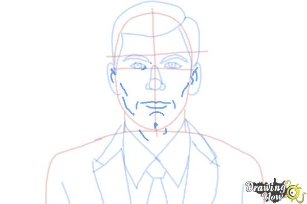How to Draw Archer, Sterling Malory Archer from Archer - Step 8