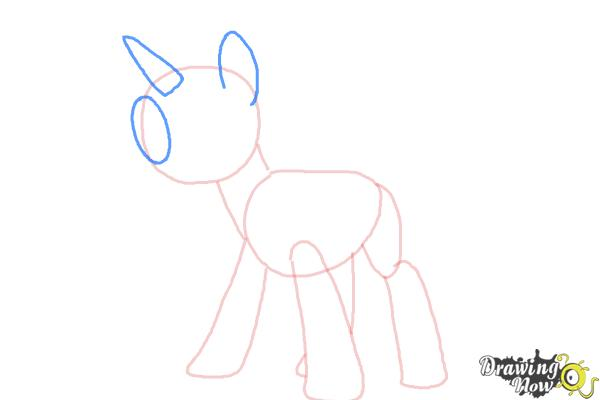 How to Draw Twilight Sparkle, Masked Matter-Horn from Power Ponies - Step 4