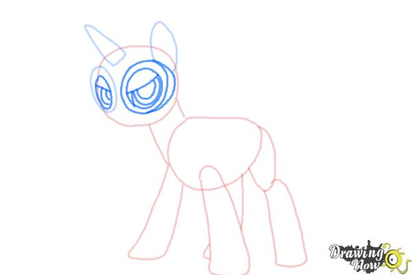 How to Draw Twilight Sparkle, Masked Matter-Horn from Power Ponies - Step 5