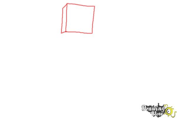How to Draw Diamond Steve from Minecraft - Step 1